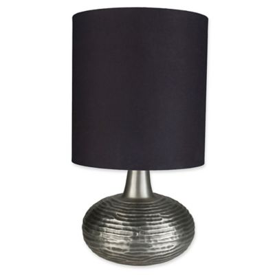 Buy silver black table lamp from bed bath beyond surya khodon table lamp in blacksilver mozeypictures Choice Image