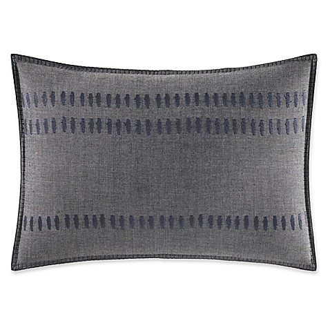 image of ED Ellen DeGeneres Nomad Oblong Throw Pillow in Dark Grey