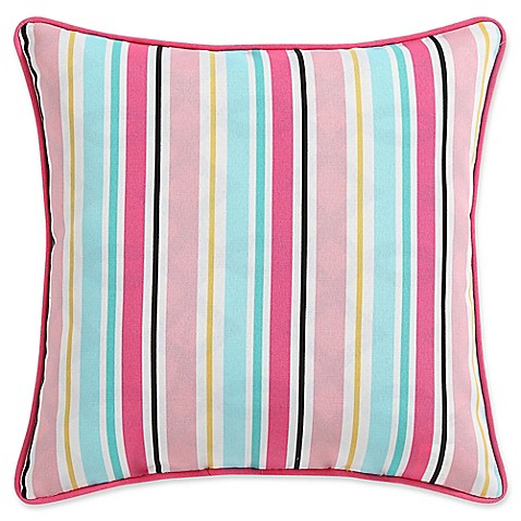 Clairebella candy stripe indoor outdoor square throw for Clairebella
