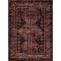 Diamond Antique 5-Foot 3-Inch x 7-Foot 3-Inch Area Rug in Black/Red
