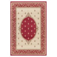 Jewel Collection Medallion 3-Foot 11-Inch x 5-Foot 7-Inch Area Rug in Red