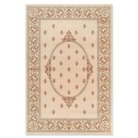 Jewel Collection Medallion 5-Foot 3-Inch x 7-Foot 7-Inch Area Rug in Ivory