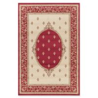 Jewel Collection Medallion 5-Foot 3-Inch x 7-Foot 7-Inch Area Rug in Red