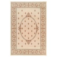 Jewel Collection Medallion 6-Foot 7-Inch x 9-Foot 3-Inch Area Rug in Ivory