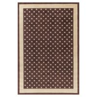 Jewel Athens 6-Foot 7-Inch x 9-Foot 3-Inch Area Rug in Brown