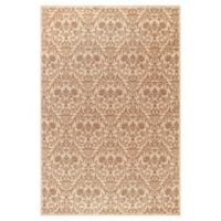 Jewel Damask 2-Foot 7-Inch x 4-Foot Accent Rug in Ivory