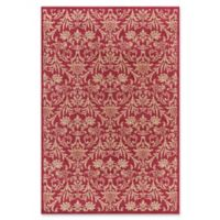 Jewel Damask 5-Foot 3-Inch x 7-Foot 7-Inch Area Rug in Red