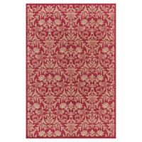 Jewel Damask 6-Foot 7-Inch x 9-Foot 3-Inch Area Rug in Red