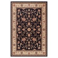Jewel Collection Marash 2-Foot 7-Inch x 4-Foot Accent Rug in Black