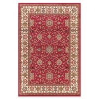 Jewel Voysey 5-Foot 3-Inch x 7-Foot 7-Inch Area Rug in Red