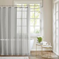 Madison Park Anna Sheer Shower Curtain in Grey
