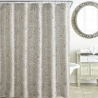 Waterford Sophia 72-Inch x 72-Inch Shower Curtain in Platinum