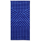 Geometric Beach Towel in Blue