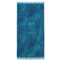 Palm Leaves Beach Towel in Blue