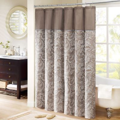 Madison Park Aubrey Extra Long 72 Inch X 84 Inch Shower Curtain In