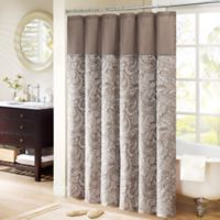 Madison Park Aubrey Extra-Long 72-Inch x 96-Inch Shower Curtain in Brown
