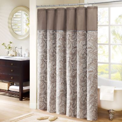 Merveilleux Madison Park Aubrey Extra Long 72 Inch X 96 Inch Shower Curtain In