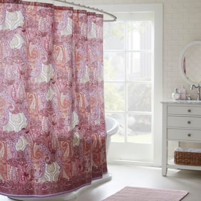 Echo Design Florentina Shower Curtain In Pink