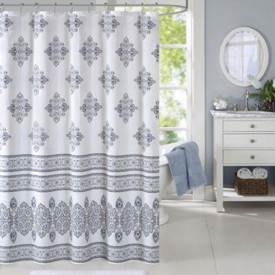 Harbor HouseTM Sanibel Shower Curtain In White Blue