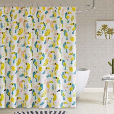HipStyle Toco Shower Curtain In Yellow Multi