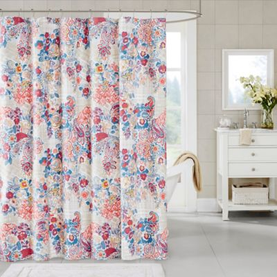 Madison Park Bess Shower Curtain In Taupe