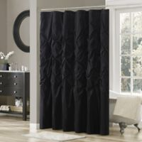 Buy Solid Black Fabric Shower Curtain