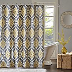 Madison Park Nadie Shower Curtain in Yellow