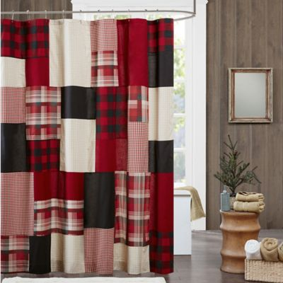 WoolrichR Sunset Winter Hills Shower Curtain In Red