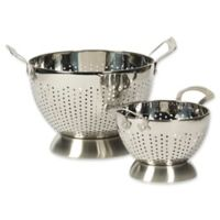Epicurious 2-Piece Stainless Steel Colander Set in Silver