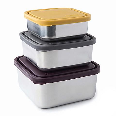 U Konserve Square Nesting Trio Food Storage Containers (Set of 3)  sc 1 st  Bed Bath u0026 Beyond & U Konserve Square Nesting Trio Food Storage Containers (Set of 3 ...