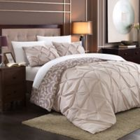 Chic Home Tirina 3-Piece King Reversible Duvet Cover Set in Plum