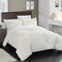 Chic Home Lauretta King Duvet Cover Set in White