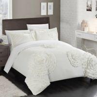 Chic Home Lauretta Queen Duvet Cover Set in White