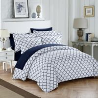 Chic Home Emmett Reversible Queen Duvet Cover Set in Navy