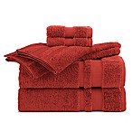 Martex Supima Luxe Bath Towel Collection in Red (Set of 6)