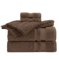 Martex Supima Luxe Bath Towel Collection in Dark Brown (Set of 6)