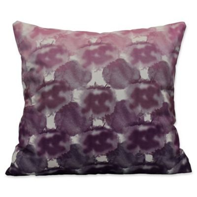 E By Design Beach Clouds Geometric Print Square Throw Pillow In Purple