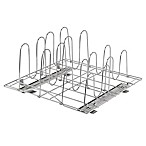 Trinity Sliding Pot Organizer in Chrome
