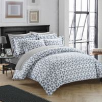 Chic Home Avaline 3-Piece Reversible Queen Duvet Cover Set in Grey