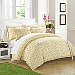 Chic Home Avaline 3-Piece Reversible Queen Duvet Cover Set in Yellow