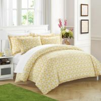 Chic Home Avaline 3-Piece Reversible King Duvet Cover Set in Yellow