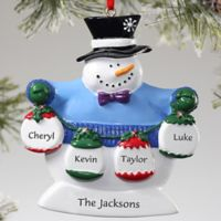 Frosty Family 4-Name Ornament