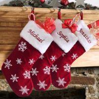 Winter Wonderland Snowflake Christmas Stocking