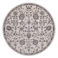 Lara Open Vase 7-Foot 10-Inch Round Area Rug in Ivory