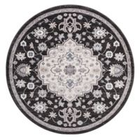 Lara Center Medallion 5-Foot 3-Inch Round Area Rug in Anthracite