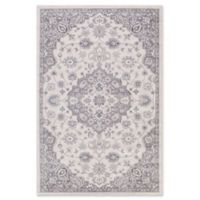 Lara Center Medallion 5-Foot 3-Inch x 7-Foot 73-Inch Area Rug in Ivory/Grey