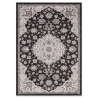 Lara Center Medallion 5-Foot 3-Inch x 7-Foot 7-Inch Area Rug in Anthracite