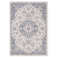Lara Center Medallion 5-Foot 3-Inch x 7-Foot 7-Inch Area Rug in Ivory/Blue