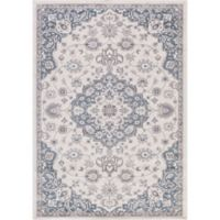 Lara Center Medallion 6-Foot 7-Inch x 9-Foot 3-Inch Area Rug in Ivory/Blue