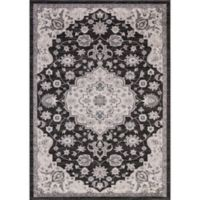 Lara Center Medallion 6-Foot 7-Inch x 9-Foot 3-Inch Area Rug in Anthracite